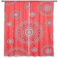 Window Curtains Unlined from DiaNoche Designs Artistic, Stylish, Unique, Decorative, Fun, Funky, Cool by - Monika Strigel Infinity Coral