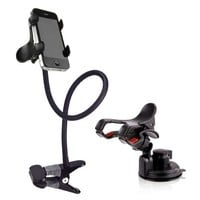 BESTEK Cell Phone Clip Holder Stand with Sitck-on Mount + Gooseneck One Clip Clamp mount on car,desk,windshield,dashboard,table for iphone 5,4s,3gs,ipod,gps,PDA,samsung galaxy,HTC, nokia,lg,blackberry holder ect. BTIH750:Amazon:Cell Phones & Accessories