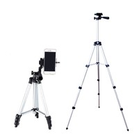 Tripod for Phone Smartphone Camera For Canon Sony Nikon Compact Phone Portable Lightweight 4 Sections Tripod Accessories