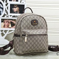 Perfect Gucci Women Leather Bookbag Shoulder Bag Handbag Backpack