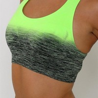 Get Your Zen on Ombre Top-Lime