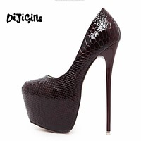 Round Toe Extreme High Heels Shoes