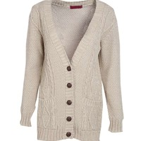 Rebecca Cable Knit Pocket Cardigan