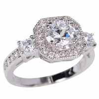 Leonora's Vintage Inspired Round Cut CZ Engagement Ring