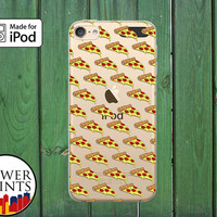 Pepperoni Pizza Slice Pattern Funny Food Cheese Custom Clear Case For iPod Touch 5th Generation and iPod Touch 6th Generation iPod 5 iPod 6