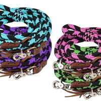 Saddles Tack Horse Supplies - ChickSaddlery.com Showman 8 Foot Round Braided Nylon Barrel Reins