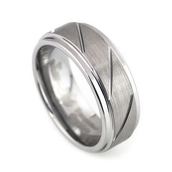 Cool Ring in tungsten Design for Man