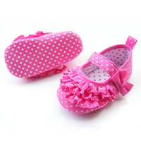 Baby Girl Soft Sole Crib Shoes Toddler Sneaker Infant Baby Shoes Age 0-18 Months NW
