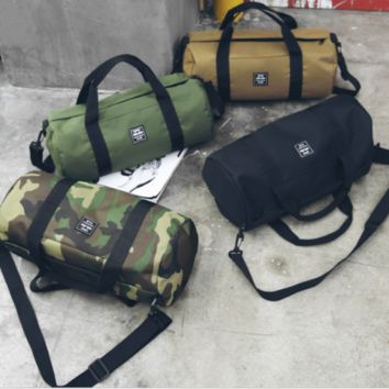 "Best Canvas Duffle Bag 24"" x 12"" Camo Army Gym Recreational Travel Shoulder"