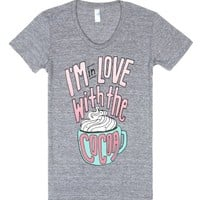 I'm in Love with the (Hot Cocoa)-Unisex Athletic Grey T-Shirt