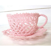 Crocheted Lace Tea Cup