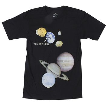 Altru Apparel You Are Here solar system locator tee