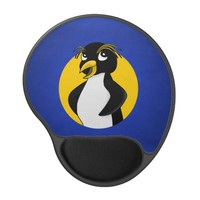 Rockhopper penguin cartoon gel mouse pad