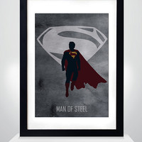 Superman, Man of Steel movie Poster, Print, A3