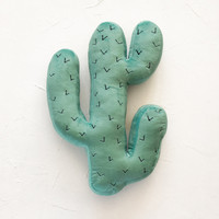 Cactus Green Throw Pillow Die Cut