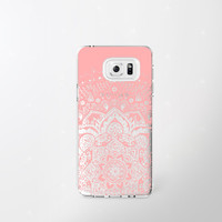 Samsung Galaxy Note 5 Case Clear Coral iPhone 6 Case Samsung Galaxy Note 4 Case Samsung Galaxy S7 Case Mandala Samsung Note 5 Case Pink