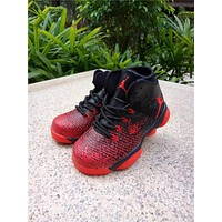 Nike Air Jordan 31 XXXI Black Red Kid Basketball Shoes for Youth Boys and Child
