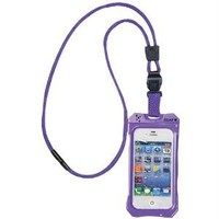 iCat 11043CP-C31 Dri Cat Neck It Waterproof Case with Lanyard for iPhone 4/4S - 1 Pack - Retail Packaging - Purple