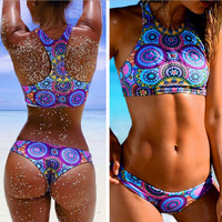 FASHION CIRCLE PRINT BIKINI