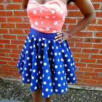 Pin-Up Rock & Roll Rockabilly Full Circle Skirt   Style Icon`s Closet