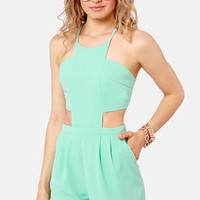 Welcome to Paradise Mint Blue Romper