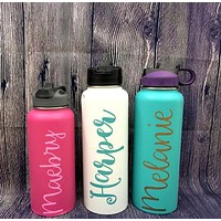 Custom Name Glitter Hydro Flask Decal