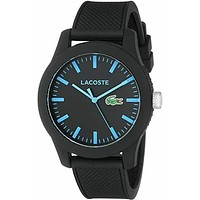 Lacoste Mens 2010791 12.12 Black Silicone Watch