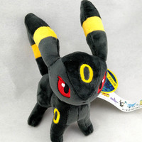"6"" Pokemon Plush Toy Umbreon Espeon Pikachu Soft Stuffed Cute Short Floss Anime Cartoon Doll"