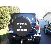 Custom Personalized Tire Cover With Full Color Artwork