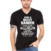 being a ballet dancer is easy its like riding a bike 1 V-Neck Tee