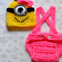 Baby Girl Despicable Me Crochet Outfit. Despicable Me Minion Outfit