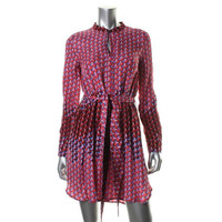 Marc by Marc Jacobs Womens Silk Long Sleeves Casual Dress