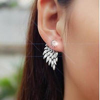 Gold And Silver Plated Angel Wings Earrings