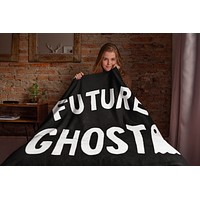 Future Ghost Throw Blanket