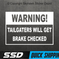 Funny Warning To Tailgater Bumper Sticker Vinyl Decal Car Truck SUV Window Jeep