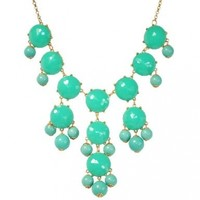 Bubble Necklace, Green ...