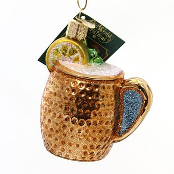Old World Christmas Moscow Mule Mug Ornament Vodka Spicy Beer Lime - 32273