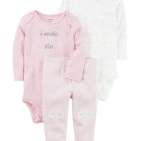 3-Piece Heathered Little Character Set