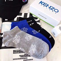 KENZO Popular Women Men Casual Pure Cotton Breathable Sport Socks - Boxed I-RQZ