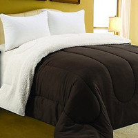 Four Seasons Bedding Collection Sherpa Reversible Comforter