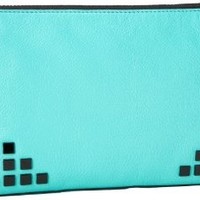 MILLY Gwen 50GC6174 Clutch,Teal,One Size