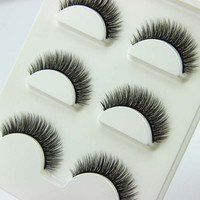 3 pairs /set 3D Cross Thick False Eye Lashes Extension
