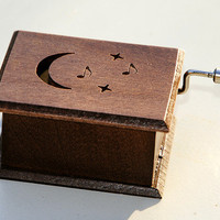 "Wooden music box  with classical music  ""Beethoven: Moonlight Sonata"""