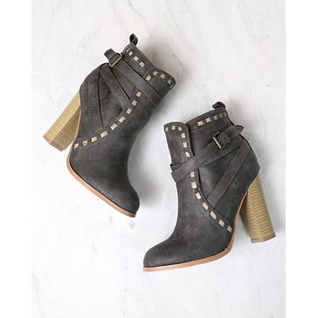 Fairest Ankle Boots of Them All in Grey