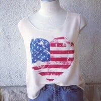 American heart Top  from Belle La Vie Boutique