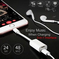 2 in 1 Charging Listen Charging Cable Splitter Cables For iPhone