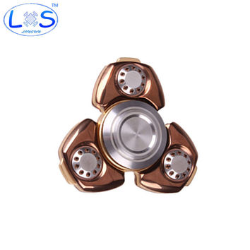 2 Color Metal Two-Spinner Fidget Toy Stainless steel EDC Hand Spinner Rotation Time Long Anti Stress Toys Child Gift,Action