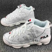 FILA men and women trendy classic fashion couple sports shoes F-CSXY white