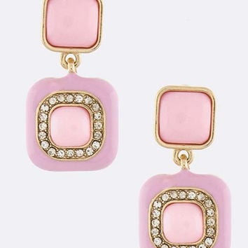 Cotton Candy Squares Earrings