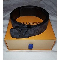 DCCK LOUIS VUITTON LV Black Damier Belt Size 95
